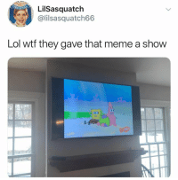 Lol, Meme, and Wtf: LilSasquatch  @lilsa squatch66  Lol wtf they gave that meme a show @childhoodmemorie.s is my favorite page