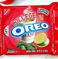 Oreo, Cookie, and Kush: LIMITE  EDITION  COLLEG  OREO  NATURAL AND  AVORED  SEALED <p>its a kush cookie the (un)official snack of DMU</p>