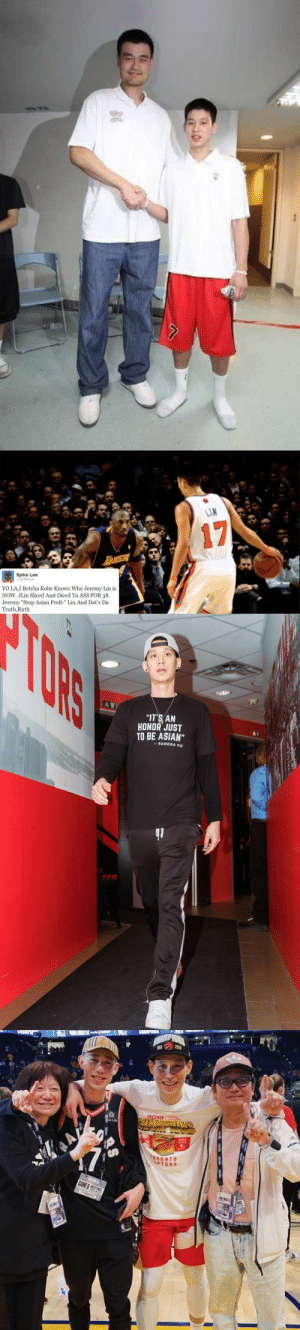 "HBD NBA Champion Jeremy Lin! https://t.co/0oLtOvex5f: LIN  17  LAKEA  Spike Lee  @SpikeLee  YO LA,I Betcha Kobe Knows Who Jeremy Lin is  NOW. JLin Sliced And Diced Ya ASS FOR 38  Jeremy ""Stop Asian Profi-"" Lin.And Dat's Da  Truth,Ruth  HB   TORS  ""IT'S AN  HONOR JUST  TO BE ASIAN""  SANDRA OH   PIDNA  3019  প  TORONTO  APTORS  GAME &S S  APASS HBD NBA Champion Jeremy Lin! https://t.co/0oLtOvex5f"