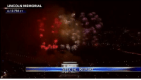Memes, Fireworks, and Lincoln: LINCOLN MEMORIAL  6:18 PM ET  SPECIAL REPORT Viewers enjoyed a spectacular fireworks display the end of the 'Make America Great Again! Welcome Celebration' which featured a variety of musical acts and remarks by President-elect Donald Trump.