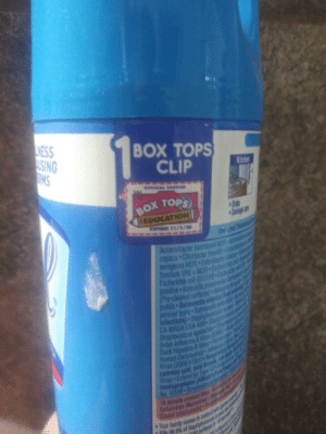You can't cut it out because it's an aerosol can: LINESS  USING  GMS  BOX TOPS  CLIP  Kitche  BOX TOPS  EDUCATION  Siabs  Gardage  EPIRES 11/1/30  Use Lyol  Acinetobacter baumanni MOR  cepacia Citrobacter freund Cary  erogenes MDR Enterobacter cl  faeclum VRE MDR Eschericha  Escherichin col 0111H Es  positive Klebsiella preumenian Card  (Pre-cleaned surtaces) Nelsn  putida Salmonella enterice (  serovar typhi Salmenella et  Infections) Staphylococcus  CA-MRSA USA-400 Staphy  Streptococcus agalactione S  Avian Influena A Vins(  Duck Hepatitls & Viris Han  Muman Coronavirus Indil  Virus (2009 HINT). Rospirag  common cold, sore throals d  Virus Echovirus Type I2 E  mentagrophytes (Athlete's F  No. 10109-StreptocO  10 minute contact time  Callicivirs INgravius(o  1Quant tuberculosisPid  Your family comes in contact wihp  Kills 99.9% of Staphylooocue  c in 10 You can't cut it out because it's an aerosol can