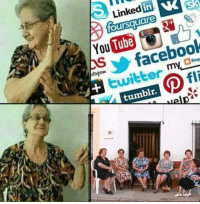 Facebook, Memes, and Tumblr: Linked in  oursquare  You  Tube  facebook  twitter  tumblr.