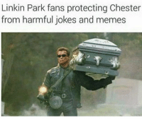 Linkin Park fans protecting Chester  from harmful jokes and memes Hmmm memes are edgy and so is Linkin Park maybe there might be a connection 🤔 dankmemes edgy filthyfrank meme memes funny nicememe lmao lol lmaoo lmfao fights daily amazing relate lgbt blacklivesmatter haha savage dope happy Funny l4l like4like tagforlikes like fun gaming