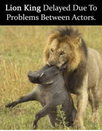 BREAKING NEWS! via /r/memes https://ift.tt/2Eny9Ws: Lion King Delayed Due To  Problems Between Actors. BREAKING NEWS! via /r/memes https://ift.tt/2Eny9Ws