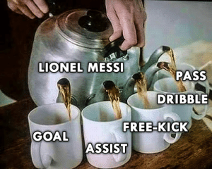Memes, Lionel Messi, and Free: LIONEL MESSI  PASS  DRIBBLE  FREE-KICK  GOAL  ASSIST He does everything 👑