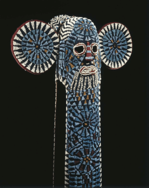 Tumblr, Brooklyn, and Blog: lionofchaeronea:Beaded elephant mask of the Bamileke people, Cameroon, worn by members of the Kuosi masking society (an elite society made up of royalty and other men of high rank). Artist unknown; 20th century. Now in the Brooklyn Museum. Photo credit Brooklyn Museum.