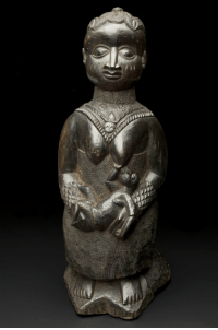 lionofchaeronea:  Carved figure of a breastfeeding woman, thought to represent Odudua, an earth goddess/mother figure among the Yoruba people of West Africa.  Artist unknown; ca. 1890-1920.  Photo credit: Wellcome Images/Wellcome Trust.: lionofchaeronea:  Carved figure of a breastfeeding woman, thought to represent Odudua, an earth goddess/mother figure among the Yoruba people of West Africa.  Artist unknown; ca. 1890-1920.  Photo credit: Wellcome Images/Wellcome Trust.