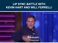 """Kevin Hart, Target, and Will Ferrell: LIP SYNC BATTLE WITH  KEVIN HART AND WILL FERRELL!   #FALLONTONIGHT  SEAHAWk <p><b><a href=""""http://www.nbc.com/the-tonight-show/filters/guests/746"""" target=""""_blank"""">Will Ferrell</a> </b>is back on the show tonight!</p><p>Last time he was here, <a href=""""https://www.youtube.com/watch?v=HvRypx1lbR4"""" target=""""_blank"""">Will had an epic lip sync battle with Jimmy and Kevin Hart!</a><br/></p>"""
