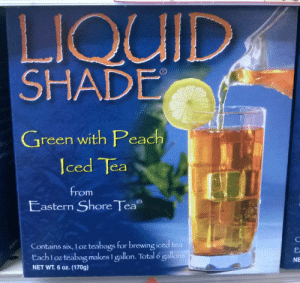 lmpossibleprincess:  a hunty's favorite drink   Mariah Carey's Queen MC's drink of choice: LIQUID  SHADE  Green with Peach  erfed  Iced Tea  from  Eastern Shore Tea  Contains six, I oz teabags for brewing iced tea  Each 1 oz teabag makes I gallon. Total 6 gallons  Ea  NET WT. 6 oz. (170g)  NE lmpossibleprincess:  a hunty's favorite drink   Mariah Carey's Queen MC's drink of choice