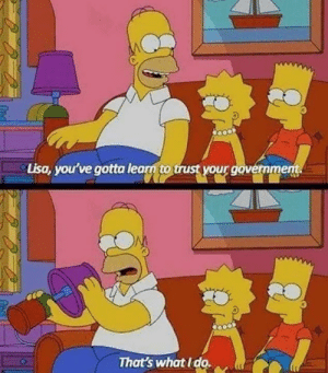 👀: Lisa, you've gotta learn to trust your govermment.  That's what I do. 👀