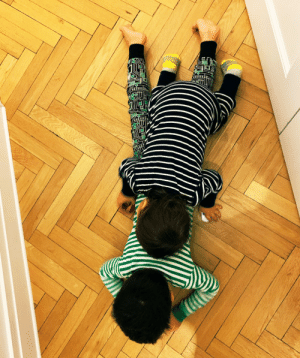 Listen, if you find your brother laying on the hallway floor, you lay on him, them's the rules https://t.co/67REzzH7It: Listen, if you find your brother laying on the hallway floor, you lay on him, them's the rules https://t.co/67REzzH7It