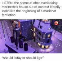 LISTEN the Scene of Chat Overlooking Marinette's House Out of