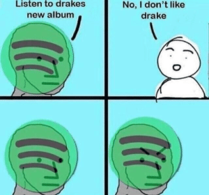 New Album: Listen to drakes  new album  No, I don't like  drake