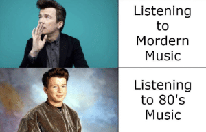 We all know 80's music is better...: Listening  to  Mordern  Music  Listening  to 80's  Music We all know 80's music is better...