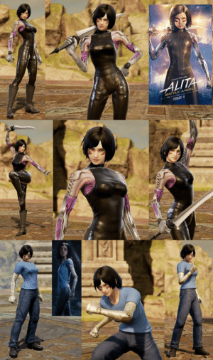 Angel, Movie, and Soulcalibur: LITA  BATTLE ANGEL  FEBRUARY  Gage Angelwind My version of Alita: Battle Angel from the movie. Made in Soulcalibur VI