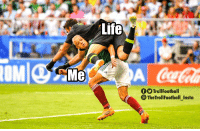 Life, Memes, and 🤖: Lite  OM  Mc  f TrollFootball  TheTrollFootball insta Me vs Life https://t.co/8yGQSA5MHg
