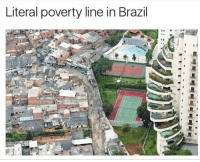 Memes, Brazil, and Never: Literal poverty line in Brazil The system was never broken, it was designed this way.