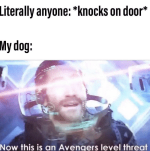 You don't want any part of this!: Literally anyone: *knocks on door*  My dog:  Now this is an Avengers level threat You don't want any part of this!
