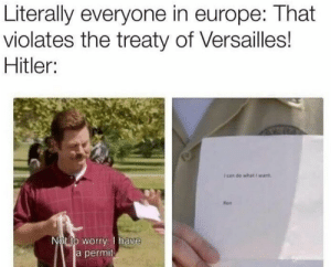 Image result for treaty of versailles meme ron swanson