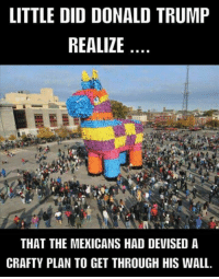 Trojan Horse V2: LITTLE DID DONALD TRUMP  REALIZE  THAT THE MEKICANS HAD DEVISED A  CRAFTY PLAN TO GET THROUGH HIS WALL. Trojan Horse V2