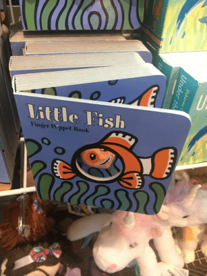 Found this gem in the gift shop: Little Fish  Finger Peppet Book  Usborne  Under the  INO Found this gem in the gift shop