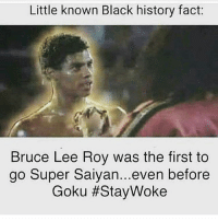 TheLastDragon: Little known Black history fact:  Bruce Lee Roy Was the first to  go Super Saiyan...even before  Goku #Stay Woke TheLastDragon