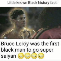 leroy jenkins: Little known Black history fact:  Bruce Leroy was the first  black man to go super  saiyan