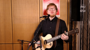 Music, Target, and Tumblr: littlebitofbass:  Ed Sheeran performs Castle on the Hill for RTL. January 26, 2017.   Then he performs Shape of You without opening his eyes a single time. Amazing.