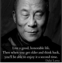 Journey, Life, and Memes: Live a good, honorable life.  Then when you get older and think back,  you'll be able to enjoy it a second time.  Dalai Lama And enjoy the journey. Thanks Tim @prosperityquotes 🙏🙌 . markiron