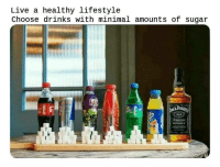 Funny, Lifestyle, and Live: Live a healthy lifestyle  Choose drinks with minimal amounts of sugar  DANI  fe  WHISKEY
