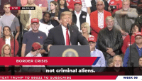 America, Party, and Republican Party: LIVE BILOXI, MS  BORDER CRISIS  not criminal aliens.  TEXT TRUMP TO 88022 TO SUBSCRIBE  WEEK 95 Last week was another big win for the Republican party. We now have 53 reliable votes in the Senate for the America First agenda!