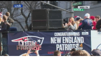 England, Memes, and Live: LIVE  BOYLSTON  WBZ-TV  CONGRATUE ONS ER  NDERSO  WEIT  NEW ENGLAND  PATRIOT  4  6  SUPP It's @RobGronkowski's third @SuperBowl parade! #EverythingWeGot #SBLIII  📺: @nflnetwork https://t.co/cuSCYeTWBC