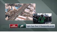 "Philadelphia Eagles, Memes, and Super Bowl: LIVE  COVERAGE  Eagles Super Bowl LIl Championship parade ""I've never been to anything like this.""  @KyleBrandt reporting LIVE from an incredible @Eagles #SBLII Parade.   📺: @nflnetwork https://t.co/hIDF8QY9jx"