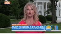 Conway, Memes, and Twitter: LIVE  DEVELOPING STORY  KELLY ANNE CONWAY ON LONDON REACTION & KEEPING U.S. SAFE  CaA  TRUMP, TERRORISM & THE TRAVEL BAN  CAFE Kellyanne Conway says the media is obsessed with Trump's twitter. In all fairness, so is Trump. (@MattBinder for CAFE) https://t.co/CsAlV96Cjf