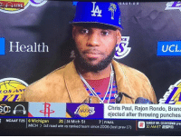 Chris Paul, Dodgers, and Dude: LIVE  ES  Health  UCL  LOSANG  Chris Paul, Rajon Rondo, Brand  LAKERejected after throwing punches  NCAAF T25 6 Michigan 21 24 Mich St 7 FINAL  SUNDAY NFL COUNTOOWN pra  MICH > 1st road win vs ranked team since 2006 (lost prev 17)  10 AMET ESrn LOOK AT THIS BANDWAGON POS ..... LIKE I SAID IM TAKING DODGERS OVER SUX TOO BUT THIS DUDE WAS ROCKING YANKEE HATS AT THE STADIUM JUST LAST YEAR....WHAT A JOKE ... FITS RIGHT IN WITH ALL LA FANS...BANDWAGON CLOWNS #METSKING