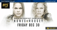 Dank, Ufc, and 🤖: Live Events Viewer  LIVE EVENTS ON PS4TM  UFC  207  WORLD BANTAMWEIGHT CHAMPIONSHIP  NUNE S vs ROUSE Y  FRIDAY DEC 30  10% OFF She's back. Watch UFC 207: Nunes vs Rousey tonight on Live Events Viewer. PS Plus members save 10% play.st/2iNb6Gm