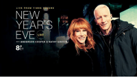 Memes, Anderson Cooper, and Square: LIVE FROM TIMES SQUARE  NEW  YEARS  EVE  LIVE  WITH ANDERSON COOPER & KATHY GRIFFIN  ET This New Year's Eve, expect the unexpected with Anderson Cooper and Kathy Griffin! New Year's Eve Live begins at 8pm on CNN.