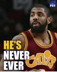 Is Shannon Sharpe right? Could Kyrie lead a team to the Finals or no? _ @undisputedonfs1: LIVE  FS1  ON  HE'S  NEVER  EVER Is Shannon Sharpe right? Could Kyrie lead a team to the Finals or no? _ @undisputedonfs1