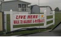 Walmart, Live, and Real Estate: LIVE HERE  WALK TO WALMART &MONALDS The Bare Necessities