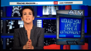 angelcreations:mrs-420:  New favorite tumblr post of all time.  This just keeps getting better as she tells it…: LIVE LEAN FORWARD  RACHEL MADDOW  ATM  WOULD YOU  LIHE TO  MAHE A  LWITHORAWAL?  FEEF angelcreations:mrs-420:  New favorite tumblr post of all time.  This just keeps getting better as she tells it…