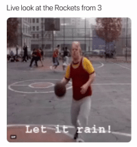 Basketball, Facts, and Gif: Live look at the Rockets from 3  Let it rain!  GIF Facts 😂 nbamemes nbaplayoffs warriors rockets (Via KingJosiah54-Twitter)