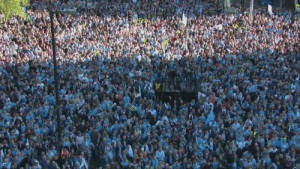 Live: Manchester City are celebrating their historic domestic treble winning season with a parade in Manchester city centre: Live: Manchester City are celebrating their historic domestic treble winning season with a parade in Manchester city centre
