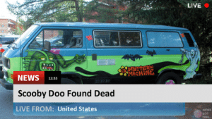 News Bot 1926 is live! Scooby Doo Found Dead  #scoobydoo #dead: LIVE  NEWS 12:33  Scooby Doo Found Dead  LIVE FROM: United States  NEWS  BOT News Bot 1926 is live! Scooby Doo Found Dead  #scoobydoo #dead