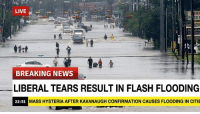 News, Breaking News, and Citi: LIVE  RP  BREAKING NEWS  LIBERAL TEARS RESULT IN FLASH FLOODING  22:31  MASS HYSTERIA AFTER KAVANAUGH CONFIRMATION CAUSES FLOODING IN CITI [PSA] Extreme weather warning across the United States as Kavanaugh Confirmed.