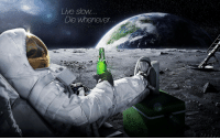 Cool sloth astronaut wallpaper/meme: Live SloW  Die Whenever Cool sloth astronaut wallpaper/meme