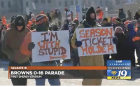 Energy, News, and Nfl: LIVE  STREAMING  TAILGATE 19  CLEVELA N  BROWNS 0-16 PARADE  FIRST ENERGY STADIUM  90  NEWS 💀