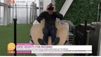 Virtual Reality: LIVE  THE SHARD  ENTERTAINMENT  NEW HEIGHTS FOR RICHARD  Richard is testing out new virtual reality attraction at The Shard  7:56 ENTERTAINMENT