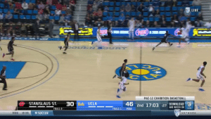 Shareef O'Neal's first college bucket!   15 MINS 6 PTS (3-3 FG)  5 REB 1 STL 1 BLK   @UCLAMBB | @SSJreef    https://t.co/opJNsl6iHv: LIVE  UO DEN SOUR T  PAC-12 EXHIBITION BASKETBALL  STANISLAUS ST  30 Ucla UCLA  DOWNLOAD  2  46 2nd 17:03 27 AND WATCH ON  EN  NOW  FOULS: 0  FOULS: 1  POSS  MBK  w VB  M SOCCER  NETWORK Shareef O'Neal's first college bucket!   15 MINS 6 PTS (3-3 FG)  5 REB 1 STL 1 BLK   @UCLAMBB | @SSJreef    https://t.co/opJNsl6iHv