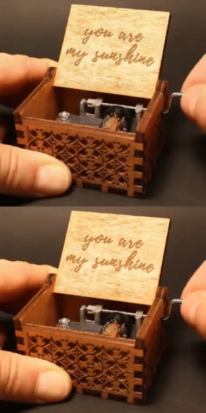 livelaughlovematters:  BEAUTIFUL AND UNIQUE YOU ARE MY SUNSHINE HAND CRANK MUSIC BOX. THIS WILL DEFINITELY MAKE A LOVELY AND MEANINGFUL GIFT FOR YOUR FRIENDS AND FAMILY! => AVAILABLE HERE <= : livelaughlovematters:  BEAUTIFUL AND UNIQUE YOU ARE MY SUNSHINE HAND CRANK MUSIC BOX. THIS WILL DEFINITELY MAKE A LOVELY AND MEANINGFUL GIFT FOR YOUR FRIENDS AND FAMILY! => AVAILABLE HERE <=
