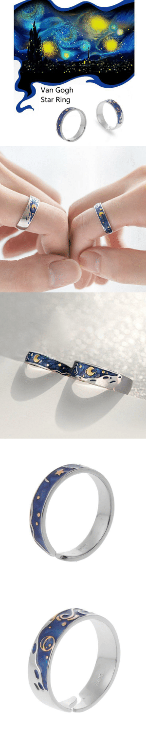 livelaughlovematters:  This beautiful and unique Van Gogh Starry Sky Ring is the perfect gift for him or for her. AVAILABLE HERE <= : livelaughlovematters:  This beautiful and unique Van Gogh Starry Sky Ring is the perfect gift for him or for her. AVAILABLE HERE <=